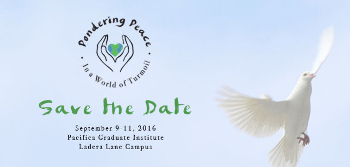 Free Event: Pondering Peace in a World of Turmoil – September 9-11, 2016