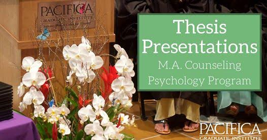 Thesis Presentation Day • Friday, May 26th
